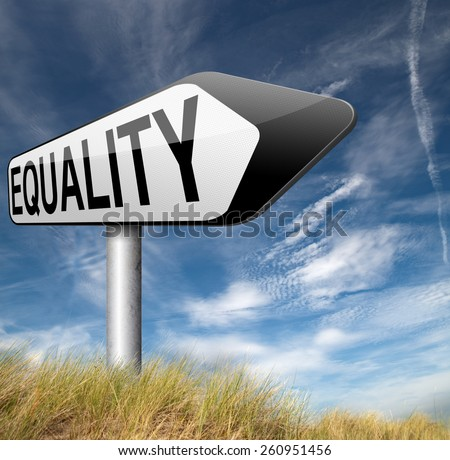 equality no difference equal rights and opportunities no discrimination  - stock photo