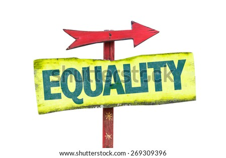 Equality sign isolated on white - stock photo