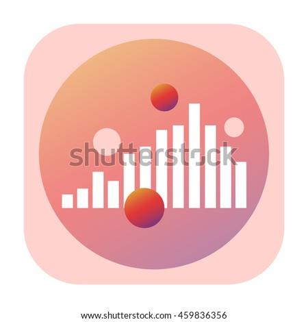 Equalizer icon - stock photo