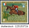 EQUATORIAL GUINEA - CIRCA 1972: stamp printed by Equatorial Guinea, shows Riding, circa 1972 - stock photo
