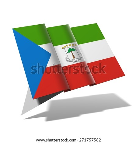 Equatorial Guinea flag 3D banner - stock photo