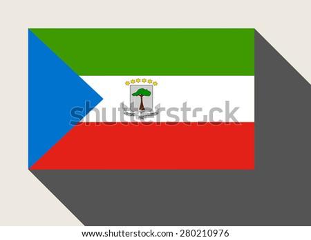 Equatorial Guinea flag in flat web design style. - stock photo