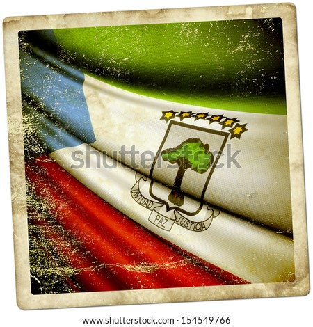 Equatorial Guinea grunge sticker - stock photo
