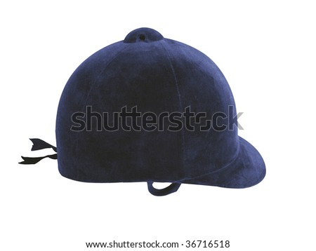 Equestrian headgear for use in hunting for 200 years - stock photo