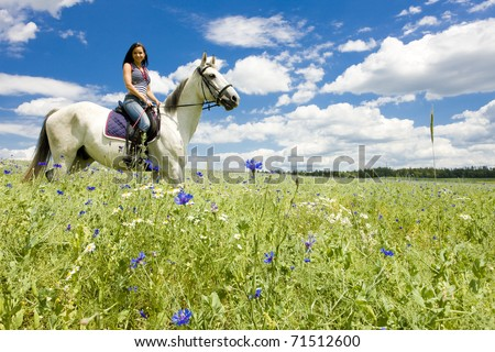 equestrian on horseback - stock photo