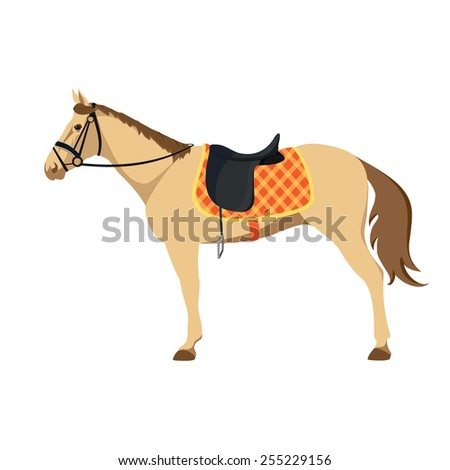 Equestrian sport. Illustration of horse. Thoroughbred horse. The Sport of Kings