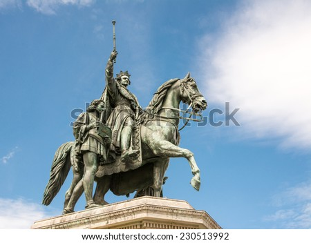 Equestrian statue of King Ludwig I in Munich, built 1862