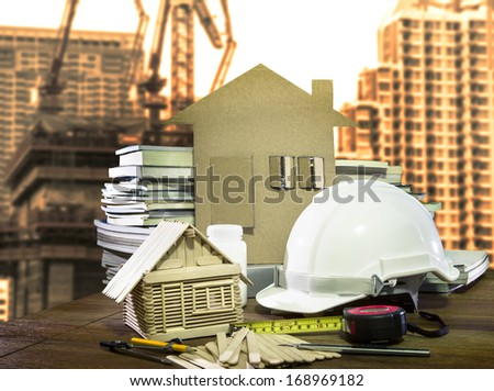 equipment and tool  home and building construction industry  use for architecture and civil engineer topic - stock photo