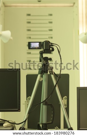 Equipment for photographic ID card - stock photo