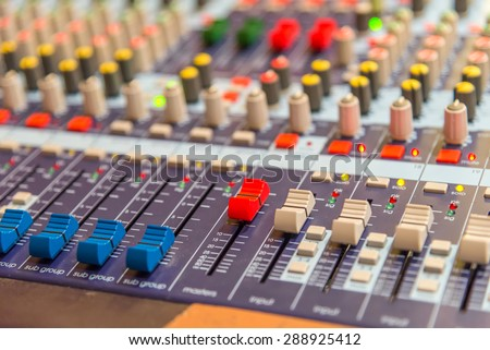 equipment for sound mixer control.