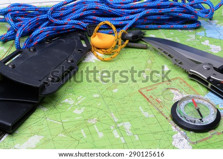 Equipment for survival.  - stock photo