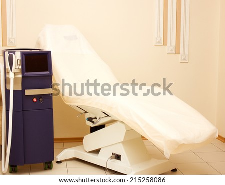 equipment in a modern cosmetology clinic - stock photo