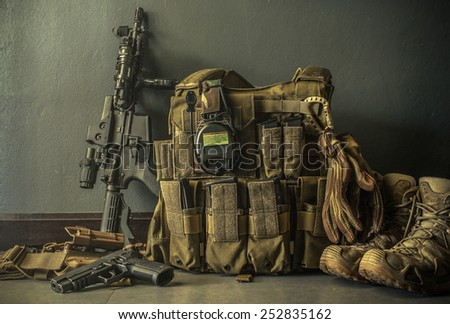 equipment warrior - stock photo