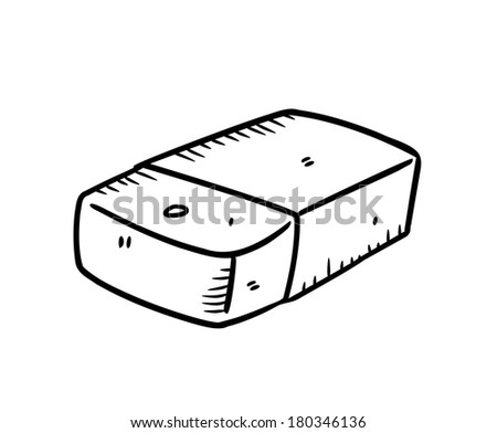 eraser in doodle style - stock photo
