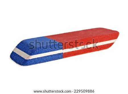 Eraser isolated on white background - stock photo