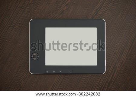 eReader on the table - stock photo