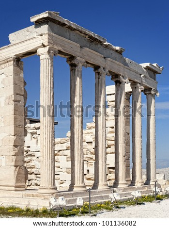 Erechtheion temple, north side of Acropolis, Athens, 421�¢??407 BC, Greece