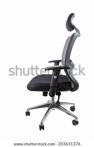 ergonomic office swivel chair isolated on white with clipping path  - stock photo