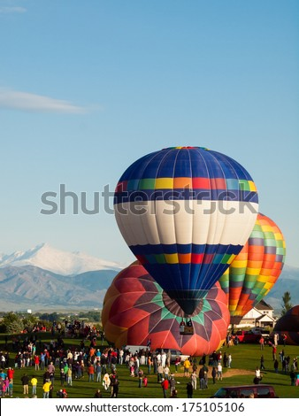 Erie, Colorado-May, 20, 2012: Annual Erie Town Fair and Balloon Festival. The balloon event is part of a day long street fair in the town of Erie.