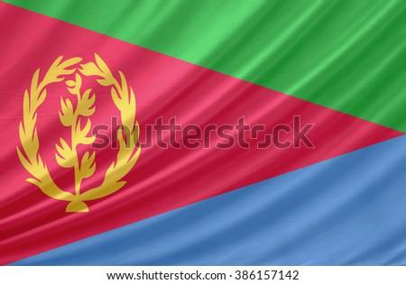 Eritrea waving flag - stock photo