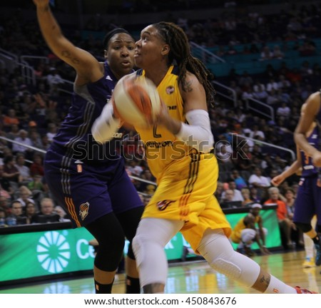 Erlana Larkins forward for Indiana Fever at Talking Stick Resort Arena July 8th,2016.