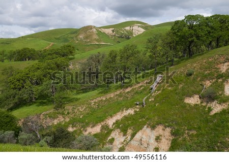 Eroded hills, Del Valle Regional Park, Livermore, California
