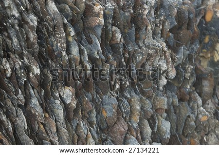Eroded rocks in the cost of Northern Norway - stock photo