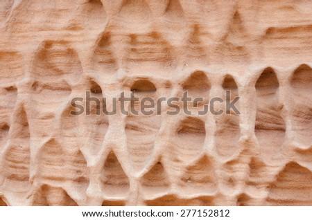 eroded sandstone - stock photo