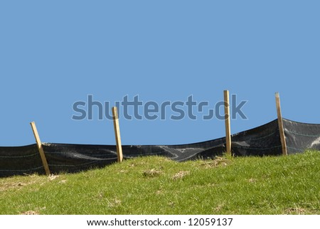 Erosion Control on a Construction Site - stock photo