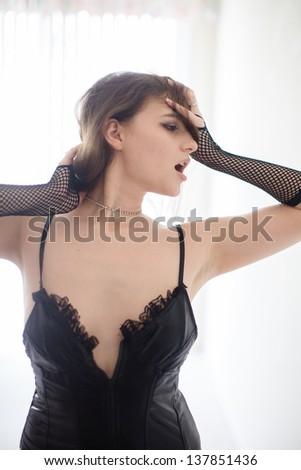 Erotic Face Woman - stock photo