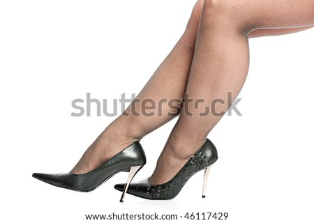erotic legs with black high heels