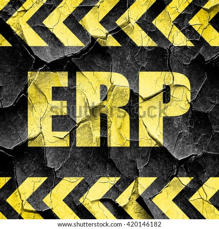erp, black and yellow rough hazard stripes