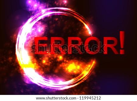error message on network failure. - stock photo