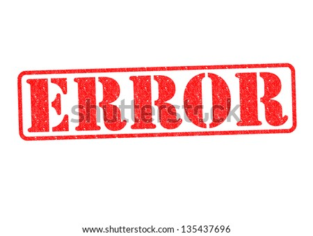 ERROR Rubber Stamp over a white background. - stock photo