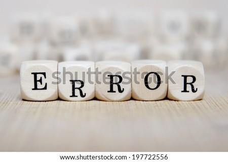 error word concept - stock photo