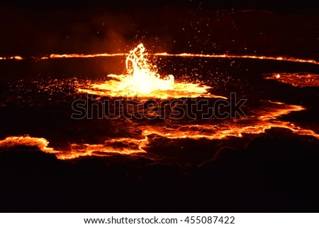 Erta Ale volcano, Afar Region of northeastern Ethiopia, unfocused