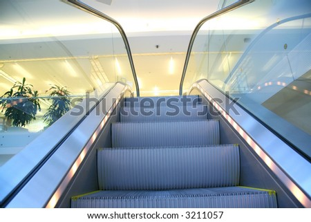 escalator 2 - stock photo