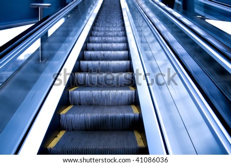 escalator by motion in business hall