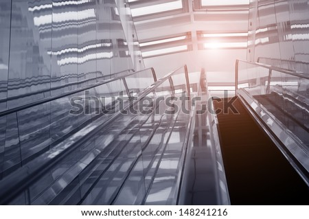 Escalator in an office building