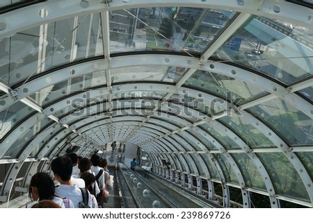 escalator in Japan