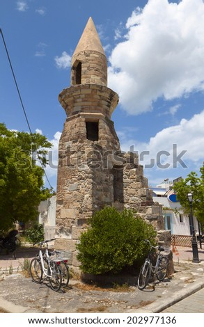 Esci Tzami at Kos island in Greece - stock photo