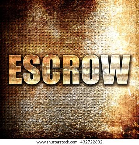 Escrow stock options