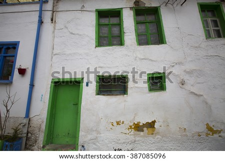 ESKISEHIR, TURKEY - MARCH 06, 2016:Historical, colorful homes and streets from Odunpazari, in Eskisehir Turkey on MARCH 06, 2016