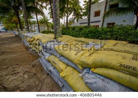 Sandbag bunker stock images royalty free images vectors - Bunker casa blanca ...