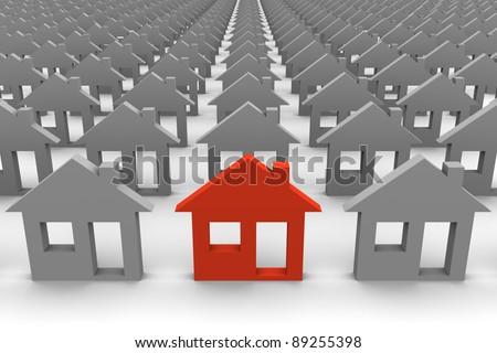 Especial house - stock photo