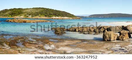 Esperance is a beautiful beach on the South Coast of Western Australia - stock photo