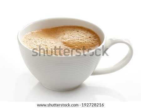 Espresso coffee cup on a white background