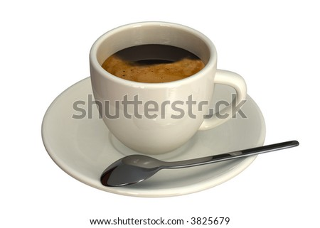 Espresso cup isolated over a white background. - stock photo