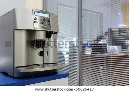 Espresso machine at the office. - stock photo