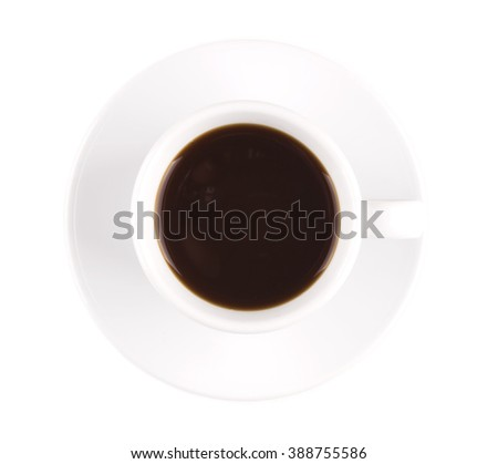espresso top view isolated
